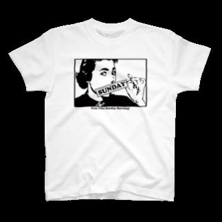 ファッションとカルチャーDesignpoolのSUNDAY T-shirts