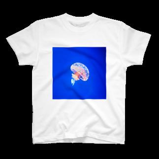 イッセーセキドラのぽつねんクラゲ T-shirts