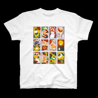 大賀一五の店の兎花札 T-shirts