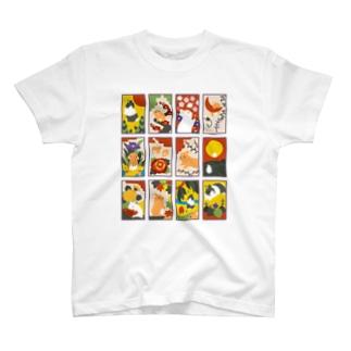 兎花札 T-shirts
