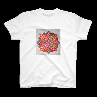 saiko-ruiのマンダラRED T-shirts