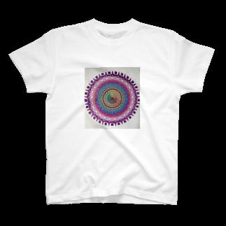 saiko-ruiのマンダラVIOLET T-shirts