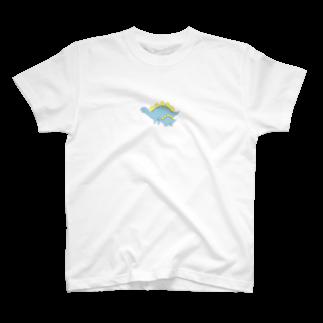 sakilonnのこんちは恐竜 T-shirts