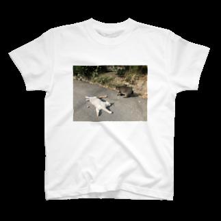 SHOP_KAGENEKOの石巻市網地島のねこ T-shirts