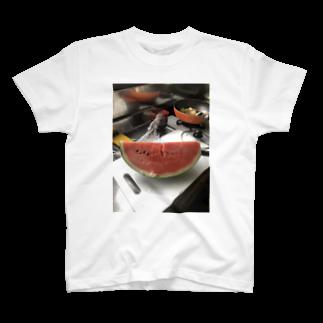 SHOP_KAGENEKOの実家感-夏の台所- T-shirts
