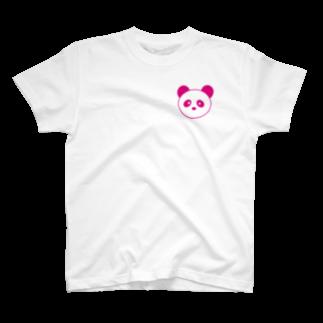 まるまるあにまるズ(仮)のピンクパンダちゃん T-shirts