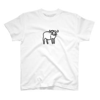 アフリカンバッファロー T-shirts