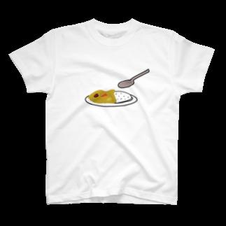 筆文字ショップのカレー T-shirts
