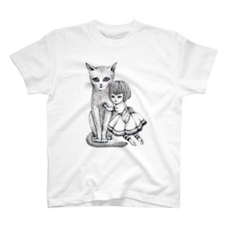 猫と少女 T-shirts