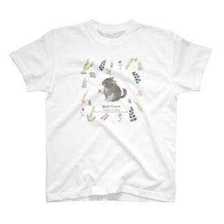 チンチラ ボタニカル T-shirts