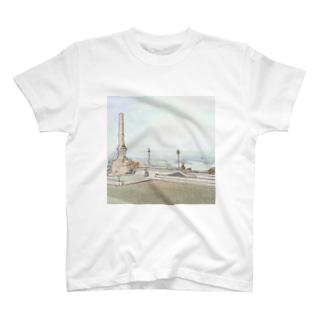 CG絵画:ヴィアナ・ド・カステロの風景画 CG art: Rio Lima / Viana do Castelo T-shirts