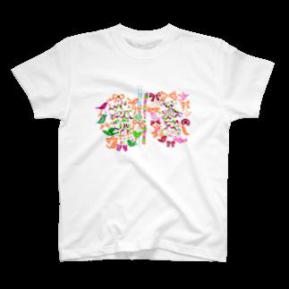 あいざわりさ子のねじまき鳥くるくるTシャツ T-shirts