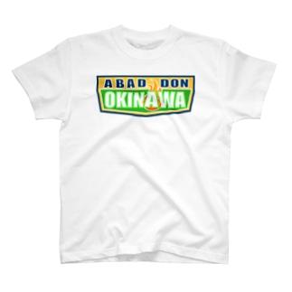 ABADDON OKINAWA GREEN LOGO T-shirts