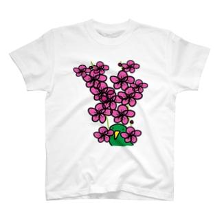 梅とトリ T-shirts