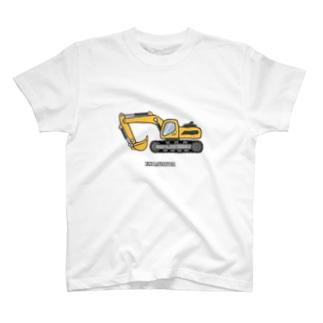 ショベルカー T-shirts