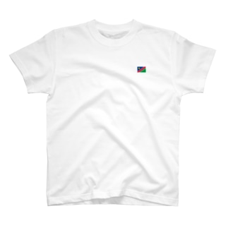 ナミビア国旗 胸ロゴ T-shirts