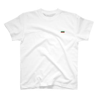 ブルガリア国旗 胸ロゴ T-shirts