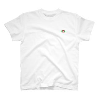 ブルンジ国旗 胸ロゴ T-shirts