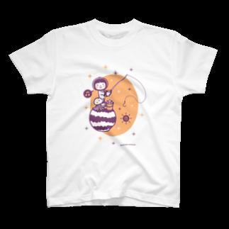minimum universe / ミニマムユニヴァースのAstronauts - Fishing T-shirts