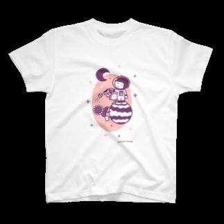 minimum universe / ミニマムユニヴァースのAstronauts - Flower T-shirts