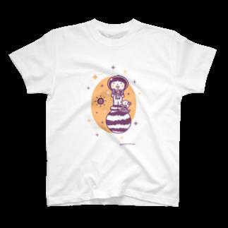 minimum universe / ミニマムユニヴァースのAstronauts - Camera T-shirts