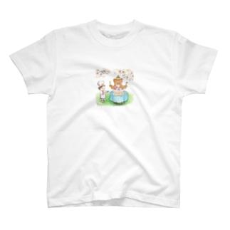 サクラ・ハピバ T-shirts