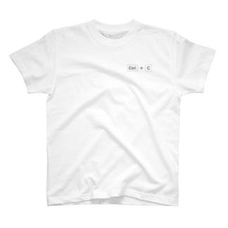 Ctrl + C (black) T-shirts