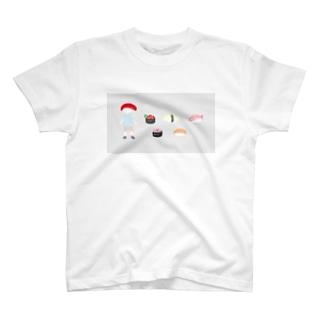 マウスで描いたおすし T-shirts
