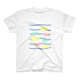 おさかな ふわわ T-shirts