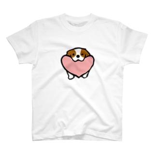 キャバリアハート(ブレンハイム) T-shirts