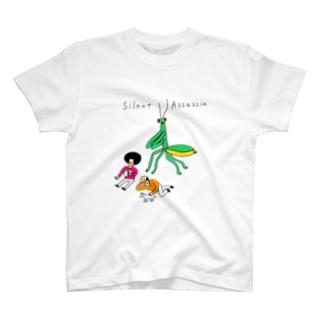 背後にカマキリ T-shirts