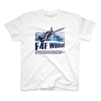 kazu Aviation ArtのF4F ワイルドキャット T-shirts