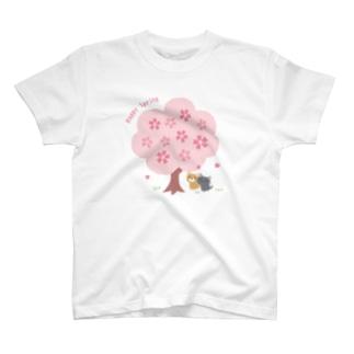 桜の木の下で T-shirts