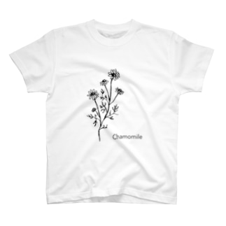 モノクロ〝カモミール〟イラスト T-shirts