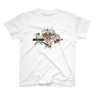 軽音学部にゃんこ T-shirts