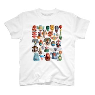 お面いっぱいいっぱい T-shirts