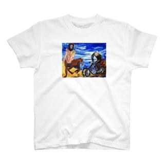 バッドアート バイクと競争ケンタウルス T-shirts
