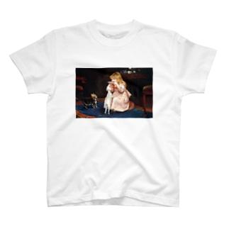 犬のエサ横取り少女 西洋画 T-shirts