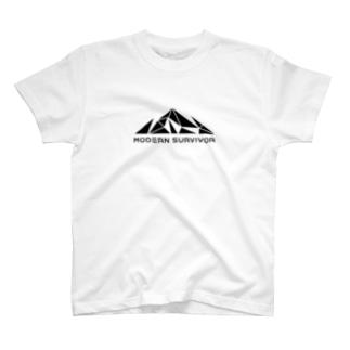 モダンサバイバー(WHITE) T-shirts