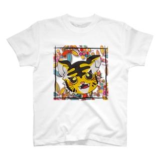 虎のトラ子 T-shirts