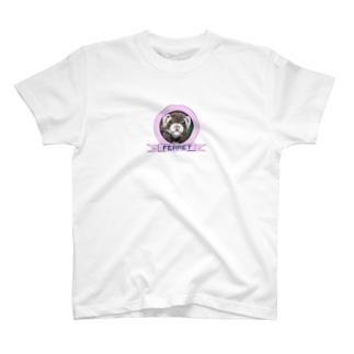 手書きフェレット T-shirts