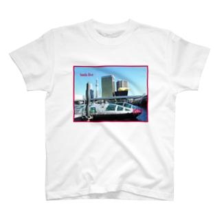 東京都:隅田川の風景写真 Tokyo: view of Sumida River T-shirts