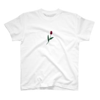 一輪のチューリップ🌷カラー T-shirts