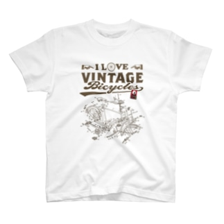 I LOVE VINTAGE BICYCLE-RODBRAKE T-shirts