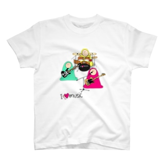 I LOVE MUSIC - アイラヴミュージック バンドVer. T-shirts