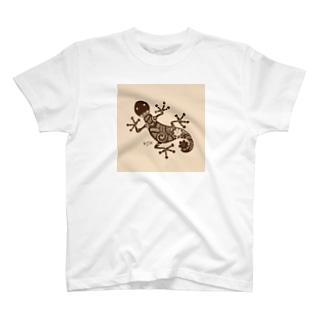 ヤモリ(geko) T-shirts