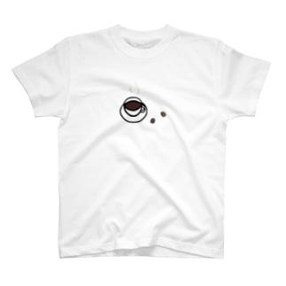 LePuyの陶土コーヒー豆とコーヒーイラスト T-shirts