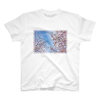 桜モザイクアート T-shirts