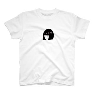 黒髪ボブのオンナノコ T-shirts