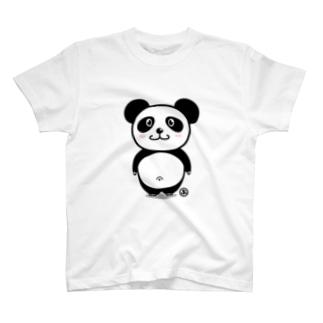 かわいいでべそパンダ T-shirts